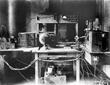 Conrad's amateur radio station 8XK in 1920