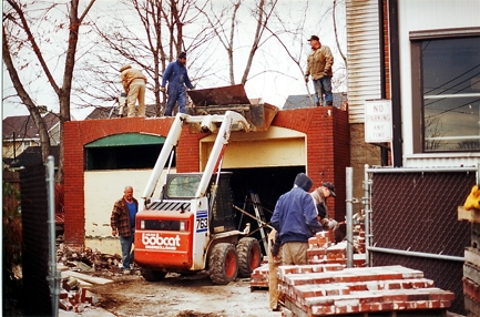 Conrad Garage during dismantling